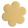 Metal Blank 24ga Brass Flower 22mm No Hole